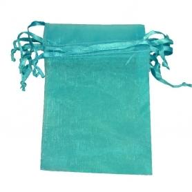 7x10 turquoise organza bag