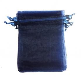Bolsa de organza azul marino 13 x 17