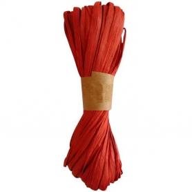 Cinta Rafia para Regalos Roja  Papel y Cintas Decorativas