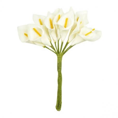 Decorar con Lirios Flores de Papel y Broches para Bodas
