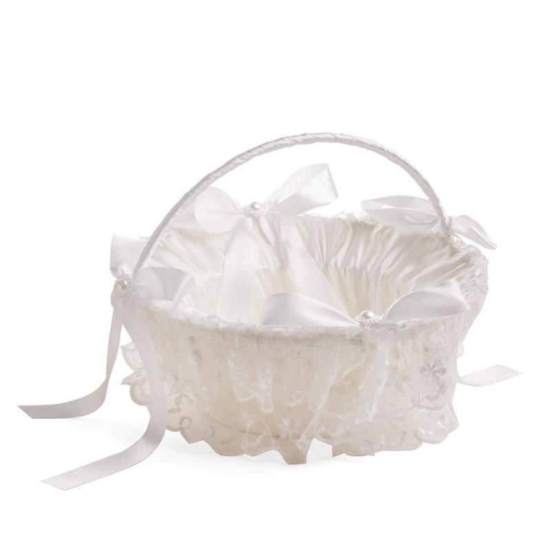 Cesta Blanca Boda  Cojines, bouquet y cestas para Arras y