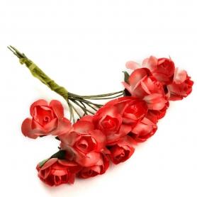 Flores de Papel Rojas  Flores de Papel y Broches para Bodas