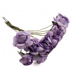 Florecitas para Decorar Regalos  Flores de Papel y Broches para
