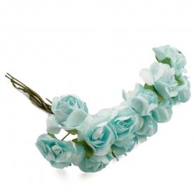 Florecitas Pequeñas  Flores de Papel y Broches para Bodas