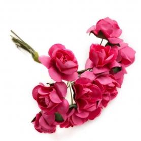 Flor Adornos Papel  Flores de Papel y Broches para Bodas