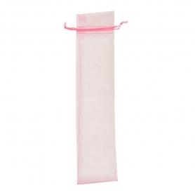 Bolsa de organza para abanicos rosa claro