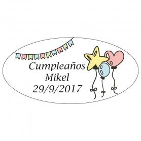 Adhesivos Personalizados para Cumpleaños