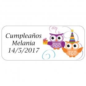 Etiqueta de Cumpleaños Personalizada