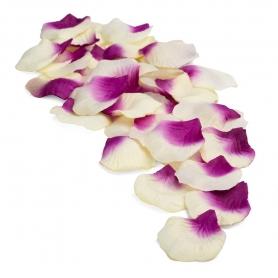 Pétalos para boda color amarillo lila  Pétalos y confetis para