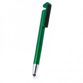 Bolígrafo con Soporte Color: negro, plata, fucsia, rojo, verde