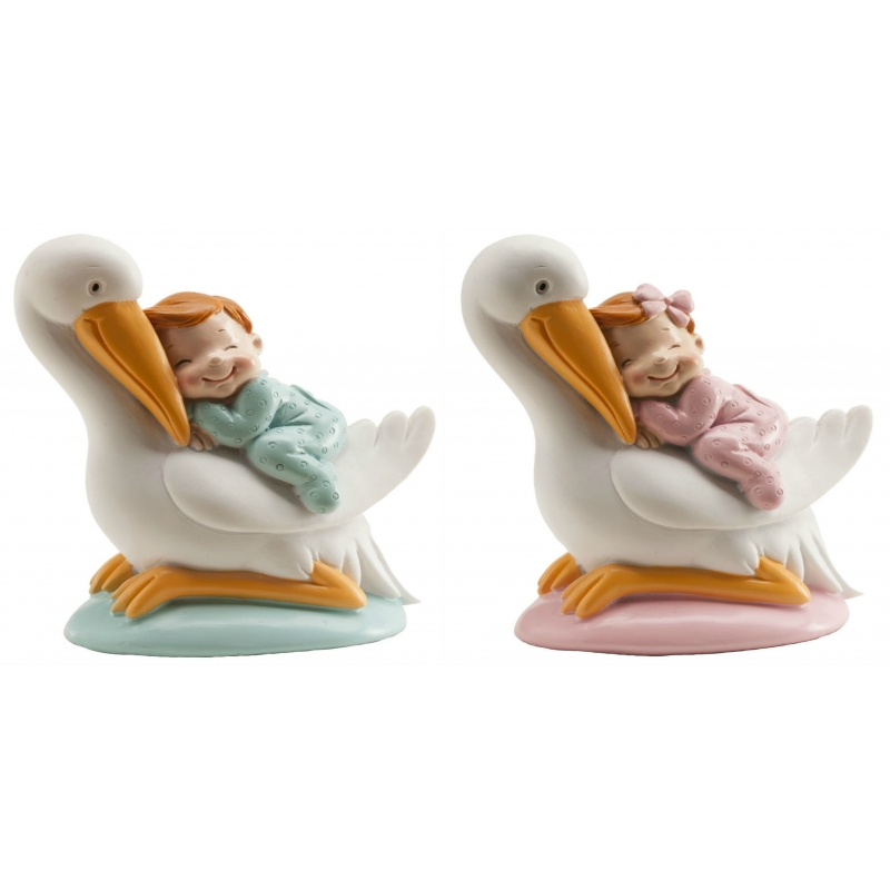 Figuras de Cigüeñas con Bebé