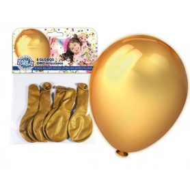 Set de 8 Globos para Decoración Color: dorado, plata Globos