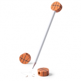 Lápiz con Gomas Baloncesto  Lápiz