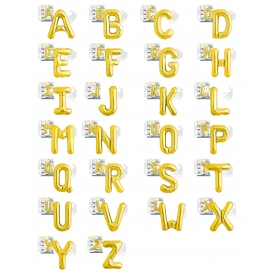 Globos Letras Doradas