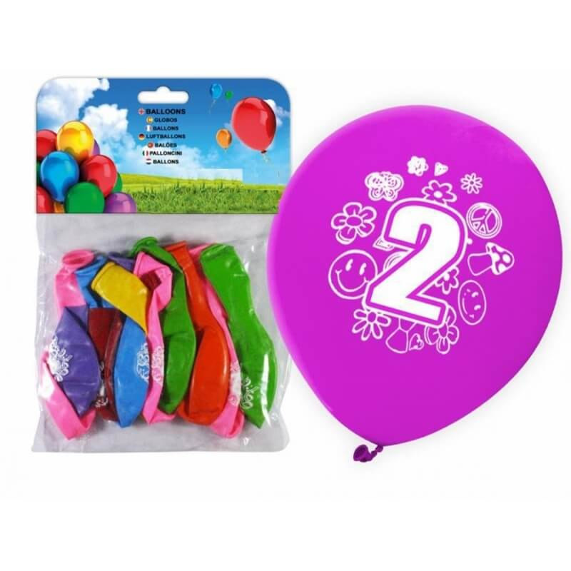 Pack de Globos de Números Número:: cero, uno, tres, cuatro