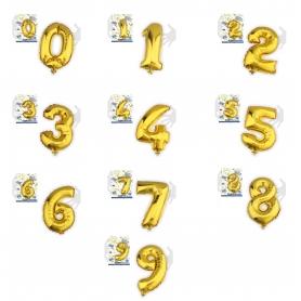 Globos de Números Metálicos
