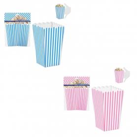 Cajas para Palomitas Color: azul, rosa Menaje Desechable para