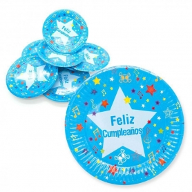 Blue Birthday dishes pack