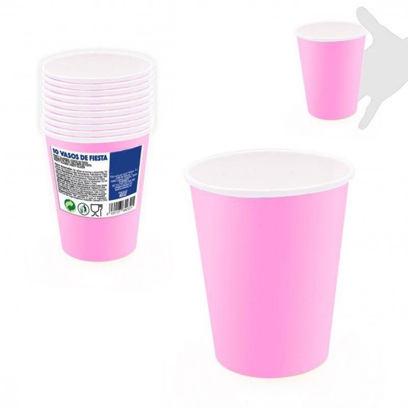 Pack de Vasos Desechables Color: rosa, azul Menaje Desechable