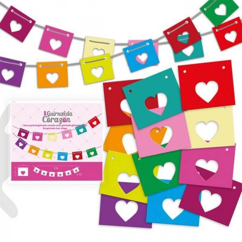 Guirnalda de Corazones Banderines y Guirnaldas para Cumpleaños