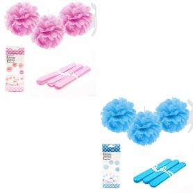Pack 3 Pompones Para Decorar
