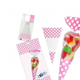 Pack de Bolsa de Chuches Color: rojo, rosa, celeste Detalles