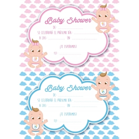 Invitación Baby Shower Gemelos