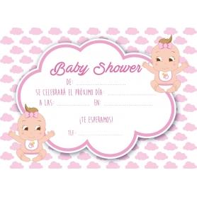 Invitación Baby Shower Gemelos