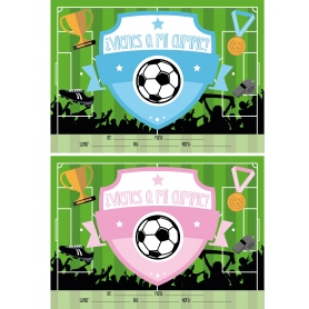Invitaciones de Cumpleaños de Fútbol