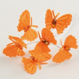 Ramito de Mariposas para Detalles Color: lila, naranja
