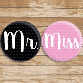 Chapas Originales Miss y Mr