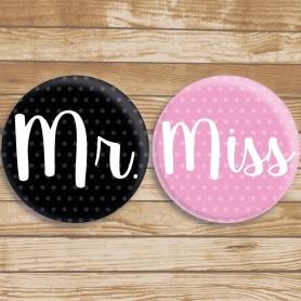 Chapas Originales Miss y Mr