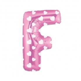 Globos Rosas de Letras Letra:: a, b, c, d, f, g, h, i, j, k, l