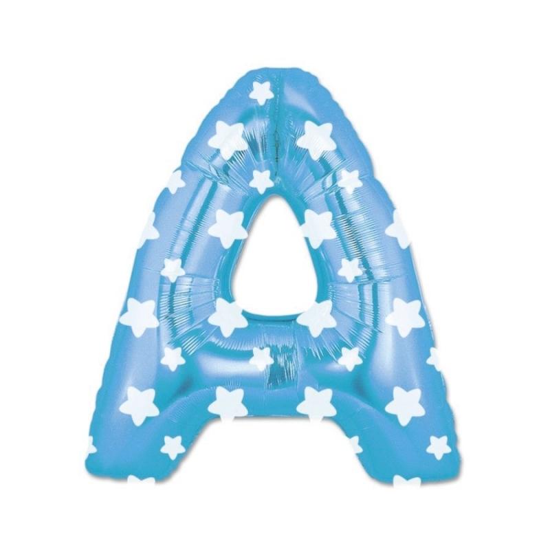Globos Azules Letras Letra:: a, b, c, d, e, f, g, h, i, j, k