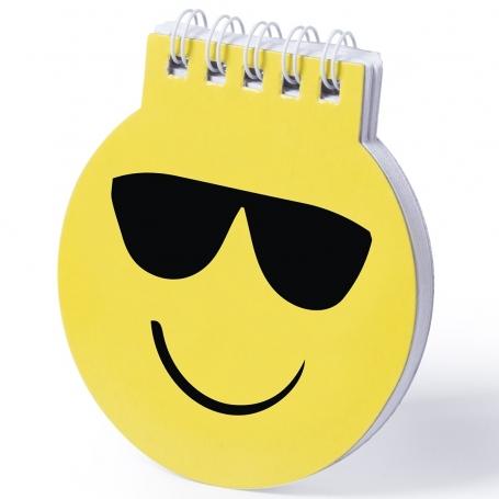 Mini Libreta Emoticonos Modelo:: carita sonrisa, carita guiño