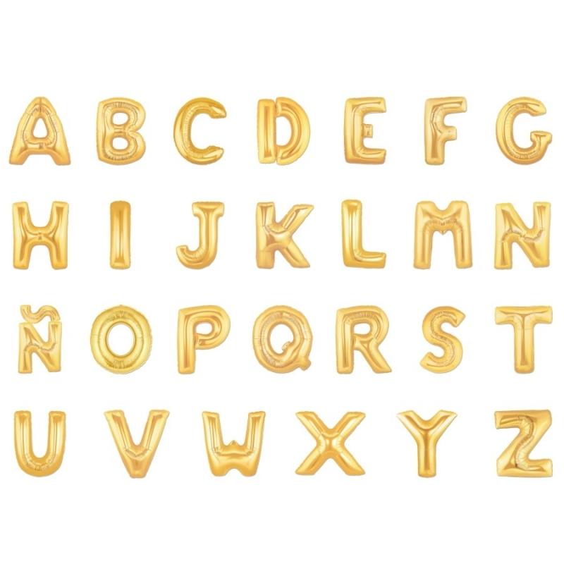 Globos de Letras Doradas