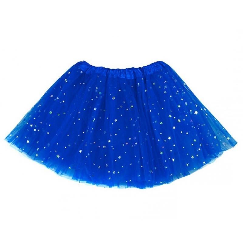 Tutu con Estrellas para Disfraz de Adulto Color: azul, negro