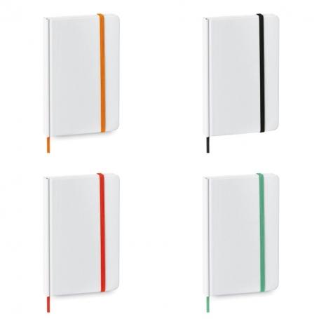 Libreta Blanca Original Color: naranja, negro, rojo, verde