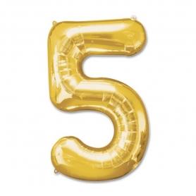 Globos de Números Dorados Número:: cero, uno, dos, tres