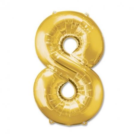 Globos de Números Dorados Globos Decorativos para Cumpleaños