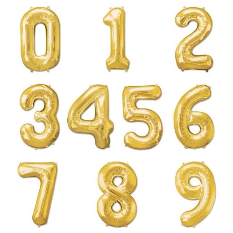 Globos de Números Dorados