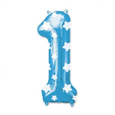 Globos Azules de Números Globos Decorativos para Cumpleaños