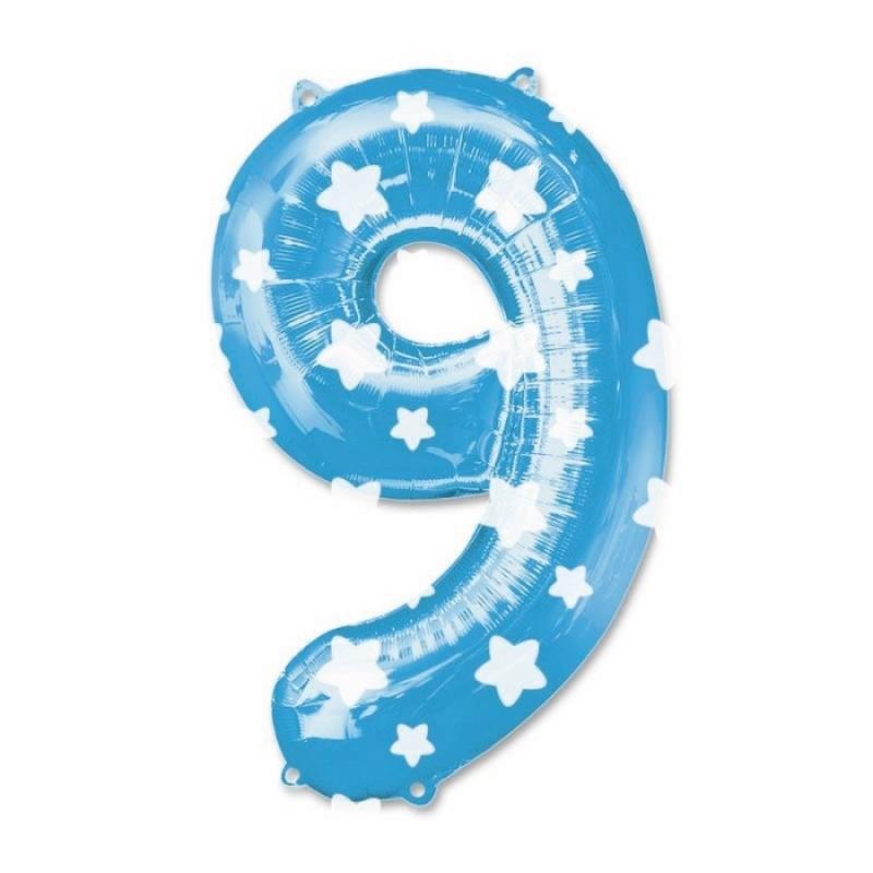 Globos Azules de Números