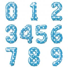 Globos Azules Números