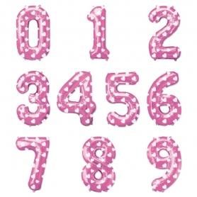 Globos Rosas de Números