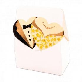 Cajas de Regalo para Bodas Color: blanco, beige Cajas