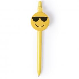 Bolígrafos de Emoticonos Modelo:: carita corazón, carita gafas
