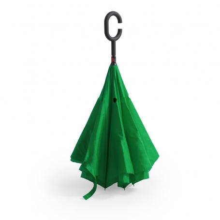 Paraguas con Apertura Invertida Color: rojo, azul marino, verde