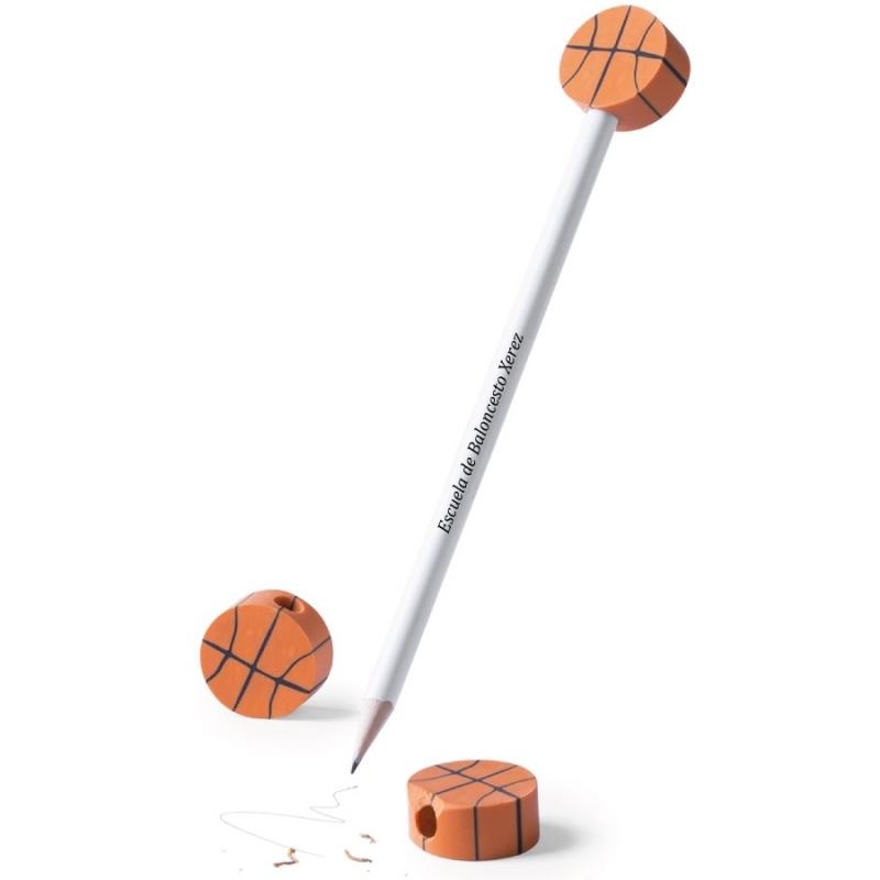 Lápiz con Gomas de Baloncesto para Empresas  Lápiz