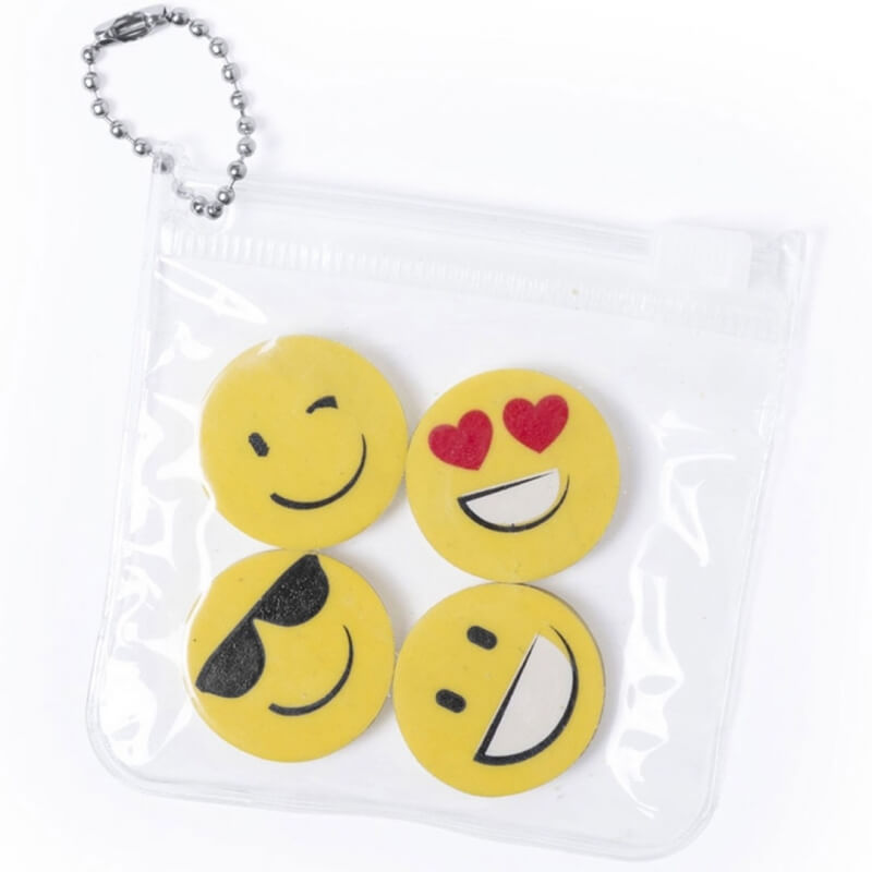 Set de Gomas de Emoticonos  Detalles Papeleria